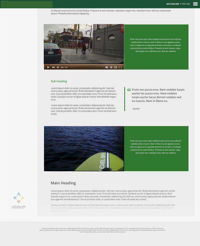 screen shot of immersive report website